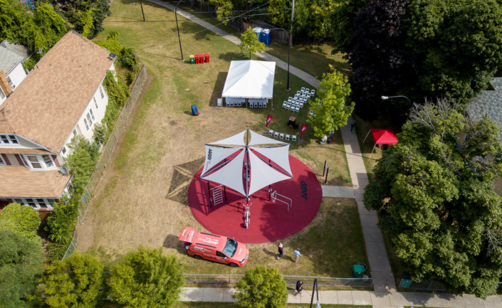 AARP Sponsored FitLot Outdoor Fitness Park in Buffalo, New York