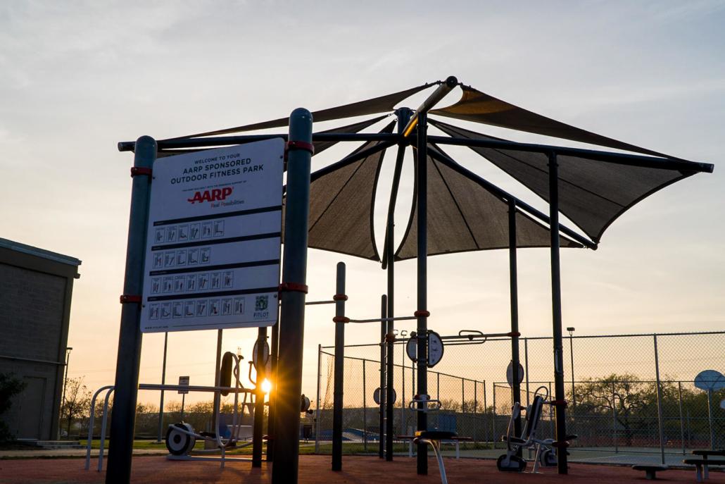 AARP Sponsored FitLot Outdoor Fitness Park in San Antonio, TX