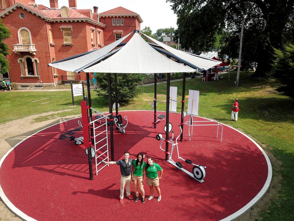 AARP Sponsored FitLot Outdoor Fitness Park in Newport, Rhode Island