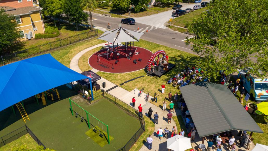 AARP Sponsored FitLot Outdoor Fitness Park in St. Petersburg, Florida