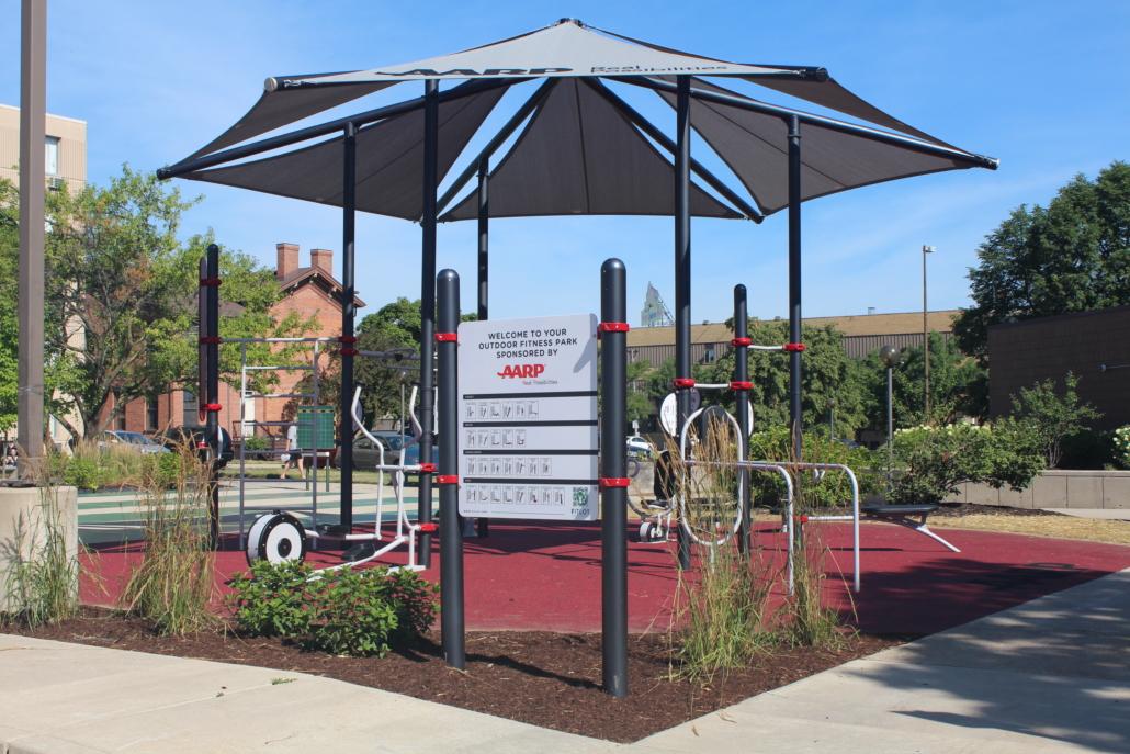 AARP Sponsored FitLot Outdoor Fitness Park in Fort Wayne, IN