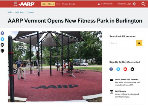 AARP Vermont Article