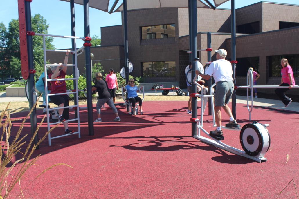 AARP Sponsored FitLot Outdoor Fitness Park in Fort Wayne, Indiana