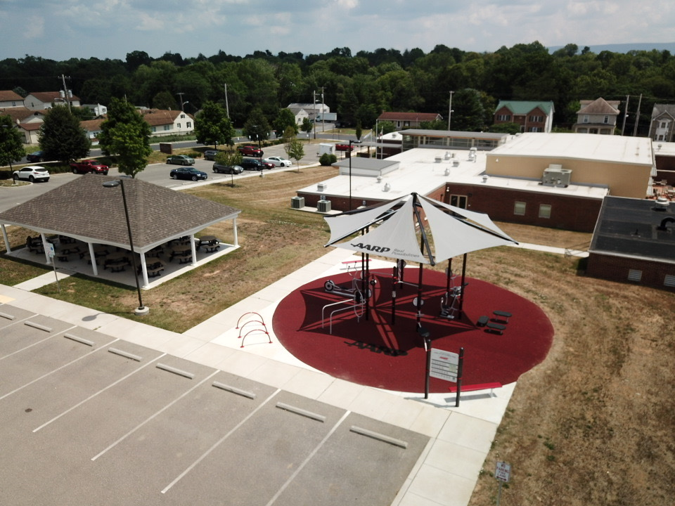 AARP Sponsored FitLot Outdoor Fitness Park in Hagerstown, MD