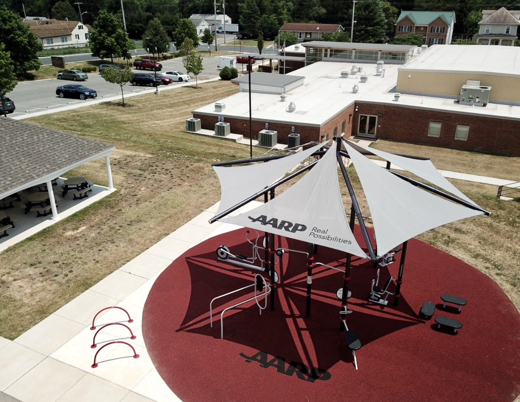 AARP Sponsored FitLot Outdoor Fitness Park in Hagerstown, Maryland