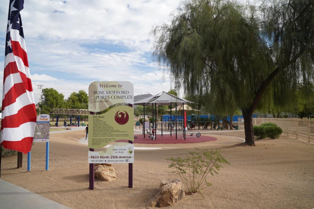 AARP Sponsored FitLot Outdoor Fitness Park in Phoenix, Arizona