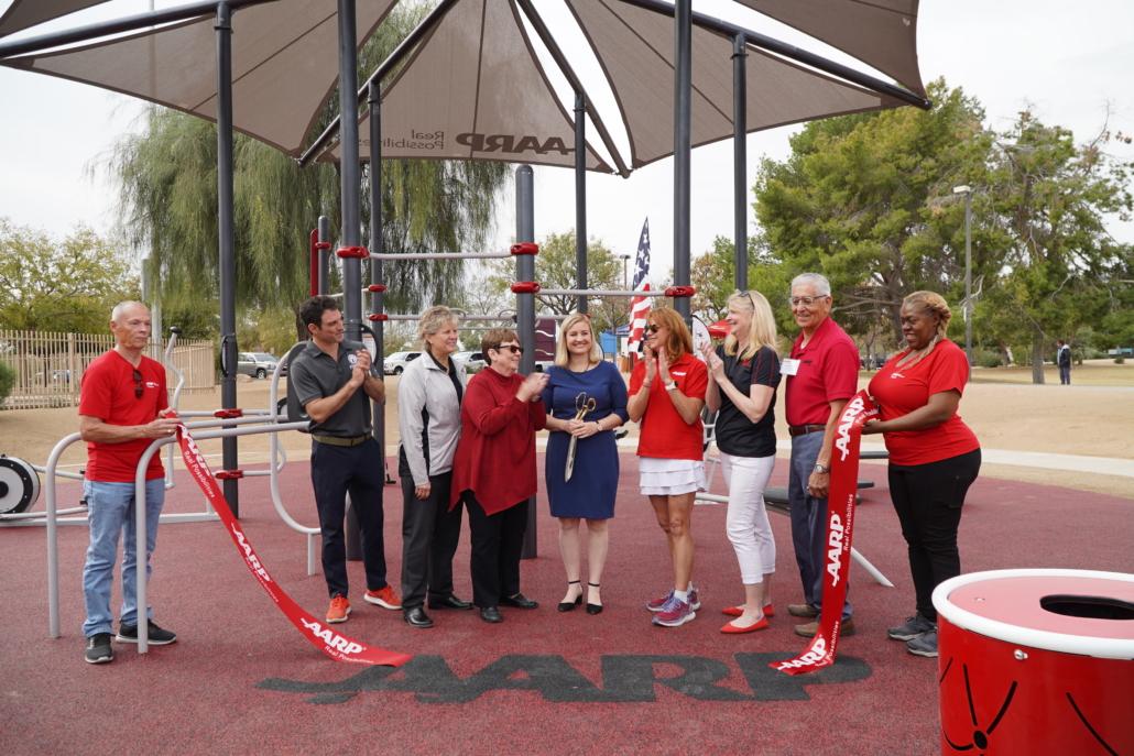 AARP Sponsored FitLot Outdoor Fitness Park in Phoenix, AZ