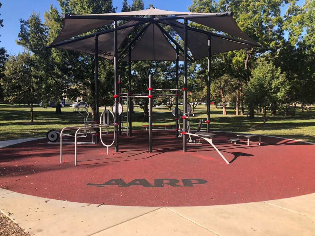 AARP Sponsored FitLot Outdoor Fitness Park in Topeka, KS