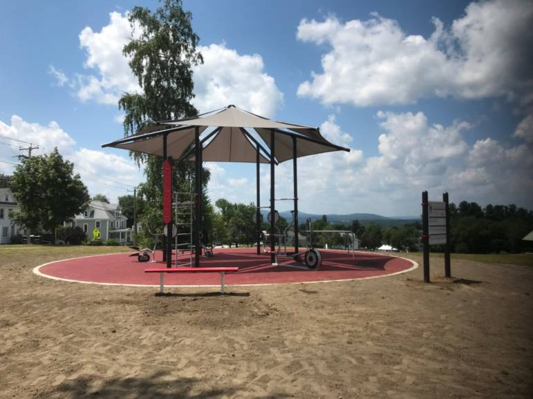 AARP Sponsored FitLot Outdoor Fitness Park in Manchester, New Hampshire
